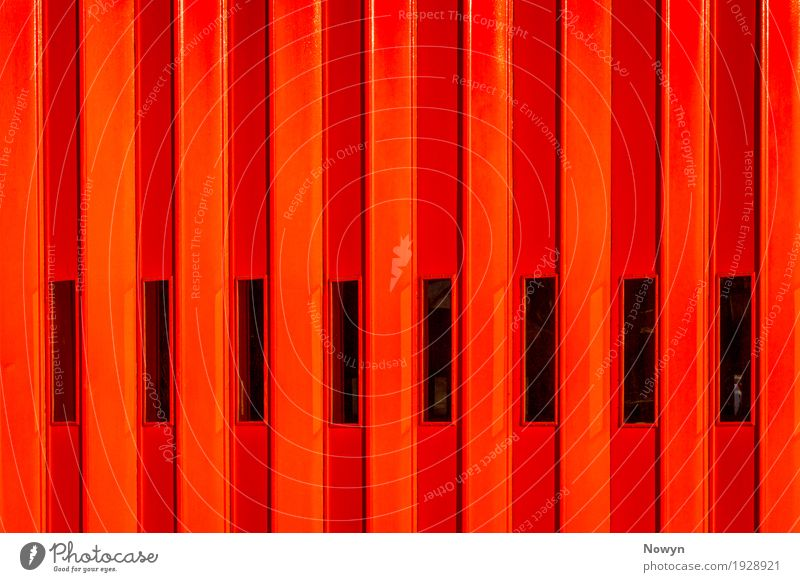 Red Fire Door Town Window Black Architecture Yellow Building Orange Metal Modern Glass Authentic Simple Threat Curiosity