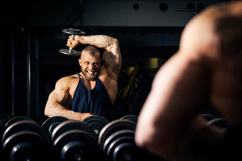 bodybuilding Lifestyle Athletic Fitness Sports Sports Training Sportsperson Human being Masculine Man Adults 1 Black Power Bodybuilder Body building Dumbbell