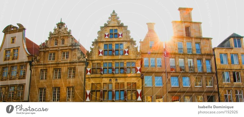 Münster Skyline House (Residential Structure) Dream house Germany Town Downtown Old town Marketplace City hall Window Tourist Attraction Emotions Moody Happy