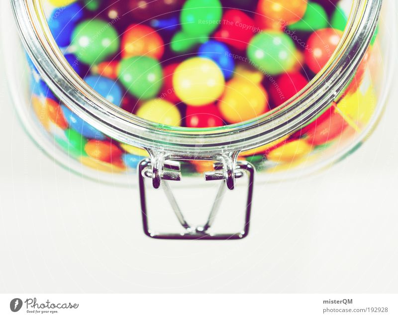 Grandma's best. Media Cinema Esthetic Candy Pot Delicious Sugar Sweet Illogical Calorie Fatty food Chocolate Multicoloured Round Lick Glass Eye-catcher