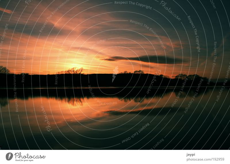 filliness Environment Nature Landscape Plant Water Sunrise Sunset Climate Bad weather Hill River bank Pond Lake Fulda Flood Red Black Moody Calm Deluge Mirror