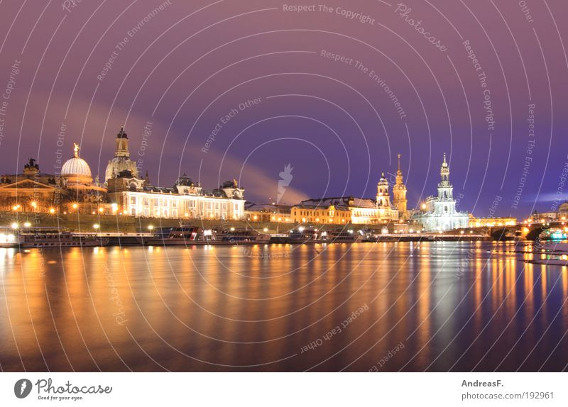 City Winter Building Ice Architecture Frost Church River Culture Dresden Castle Skyline Manmade structures Downtown