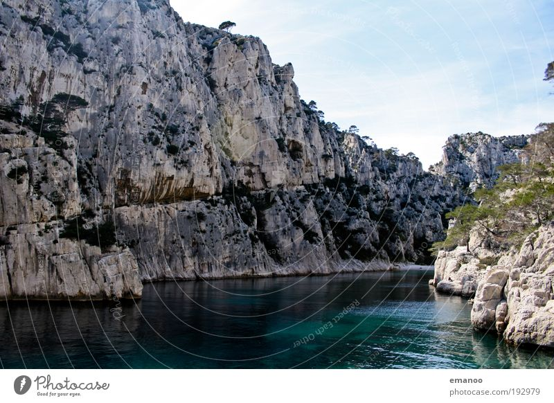 calanques Vacation & Travel Freedom Summer Summer vacation Sun Beach Ocean Environment Nature Landscape Water Beautiful weather Rock Coast Bay Fjord