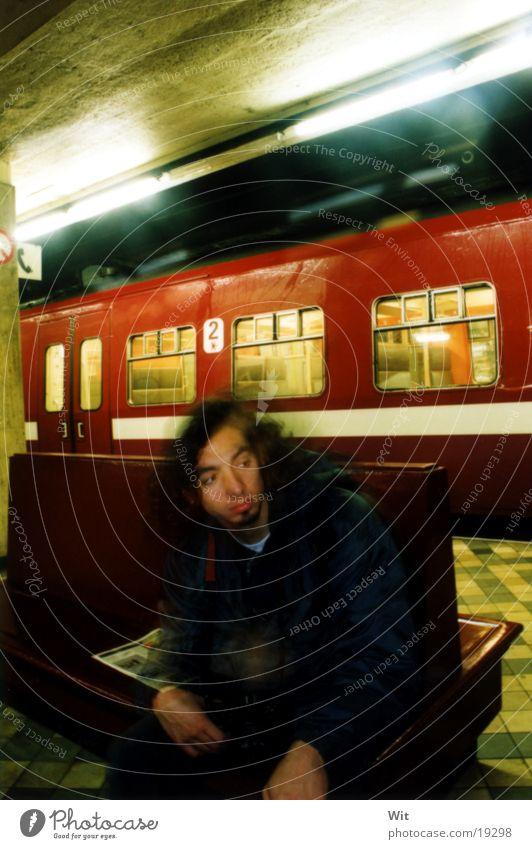 subway September Man boy in the Underground Brussels / belgium 2002