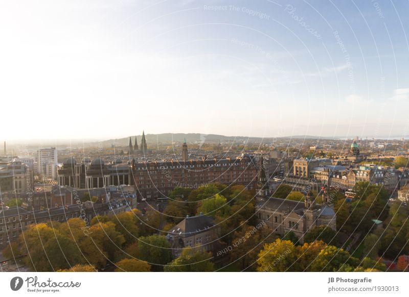 autumn in Edinburgh Nature Landscape Sky Sun Sunlight Town Downtown Old town House (Residential Structure) Castle Manmade structures Architecture
