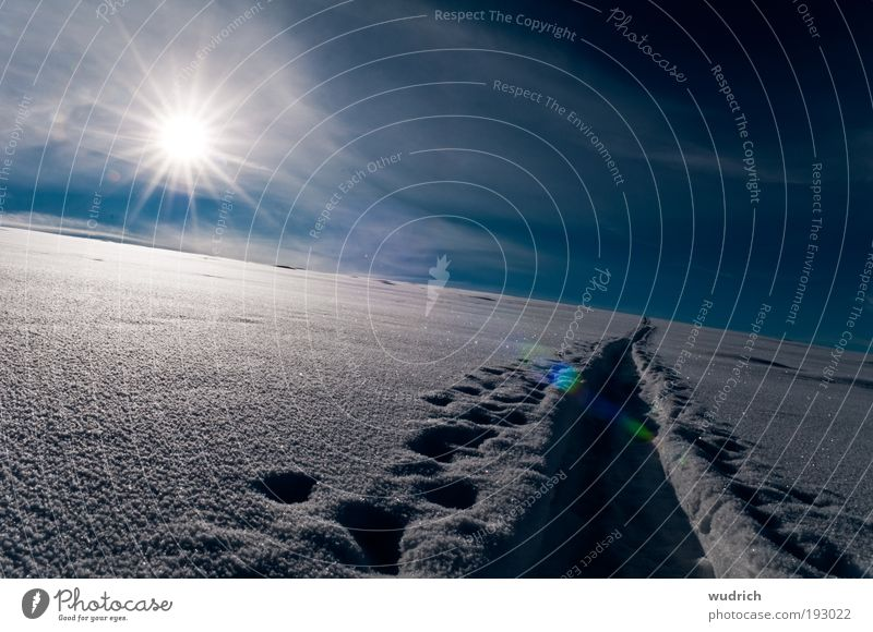 Sky White Sun Blue Winter Calm Clouds Loneliness Far-off places Cold Snow Emotions Freedom Landscape Ice Moody
