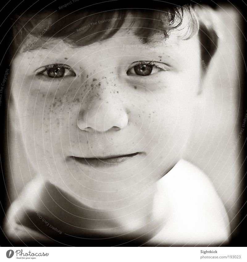 daydreamers Boy (child) Infancy 3 - 8 years Child Smiling Looking Cool (slang) Brash Friendliness Happiness Curiosity Joy Contentment Black & white photo