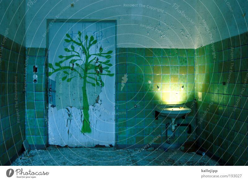 spring awaken? Living or residing Flat (apartment) House (Residential Structure) House building Redecorate Interior design Wallpaper Bathroom Art Artist Painter