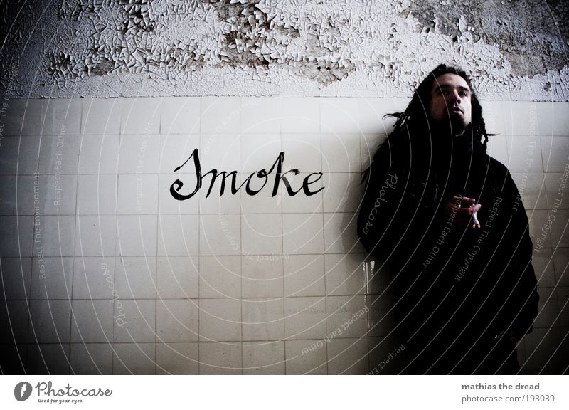 I LIKE SMOKE Human being Masculine Young man Youth (Young adults) 1 18 - 30 years Adults Ruin Manmade structures Building Wall (barrier) Wall (building) Facade