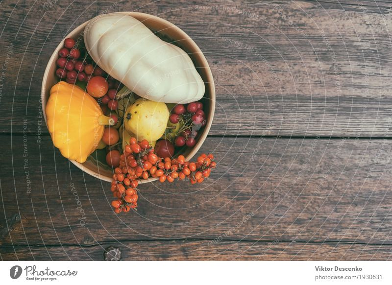 Autumn still life of vegetables Vegetable Fruit Apple Design Beautiful Life Decoration Table Thanksgiving Art Nature Leaf Wood Old Fresh Natural Yellow Green