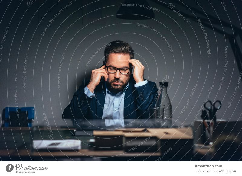 business Masculine 1 Human being Suit Business Competition Contact Concentrate Telephone To call someone (telephone) Telephonic To talk Dialog partner Chatty
