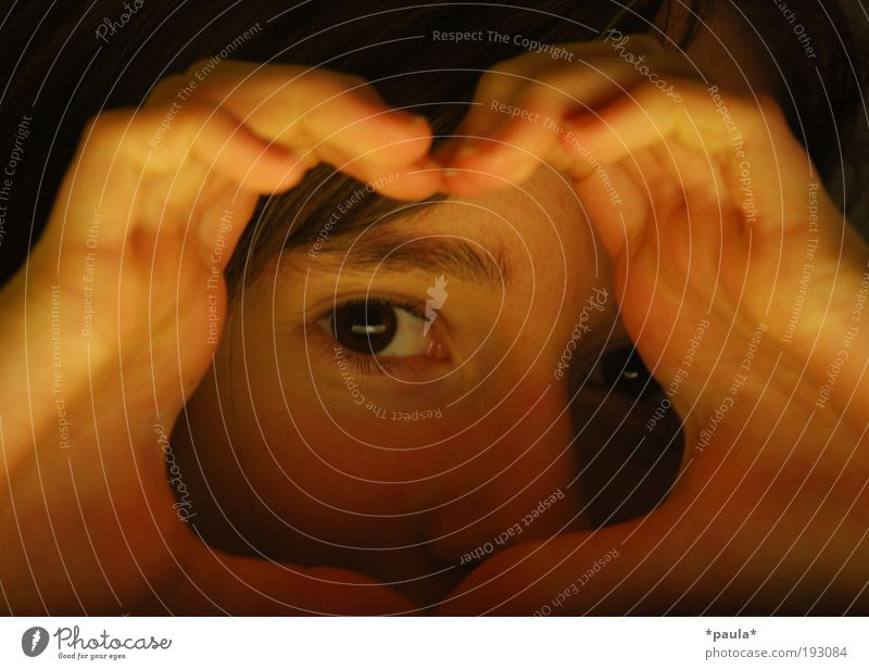 Child Girl Face Calm Eyes Feminine Happy Contentment Fingers Observe Trust Warm-heartedness Curiosity Infancy Friendliness Brunette