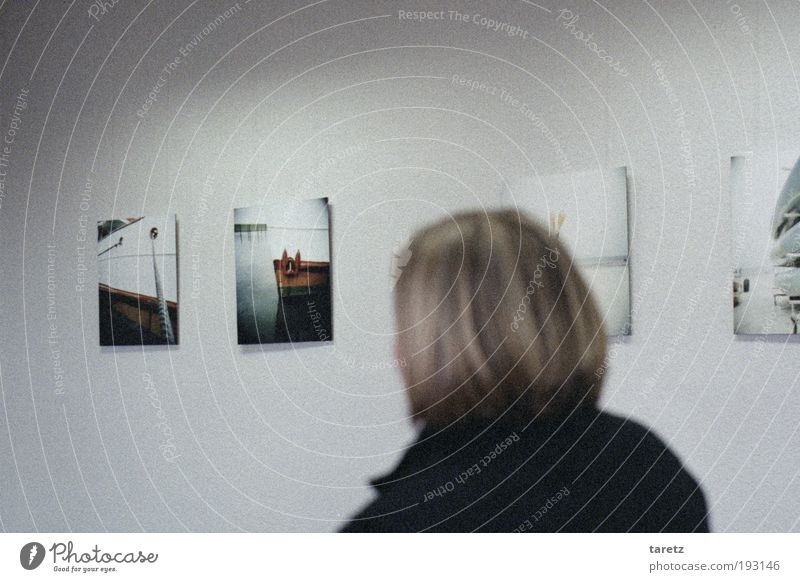 Human being Beautiful Ocean Calm Wall (building) Head Wall (barrier) Watercraft Photography Art Leisure and hobbies Image Curiosity Square To enjoy Exhibition