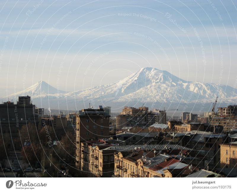 Nature Vacation & Travel City Old Far-off places Winter Mountain Moody Horizon Tourism Idyll Trip Peak Armenia Belief Snowcapped peak