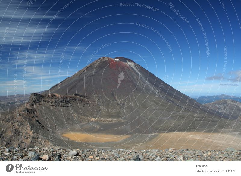 Mt Ngauruhoe aka Mount Doom Vacation & Travel Far-off places Freedom Mountain Elements Earth Beautiful weather Volcano Discover Happy Success Respect
