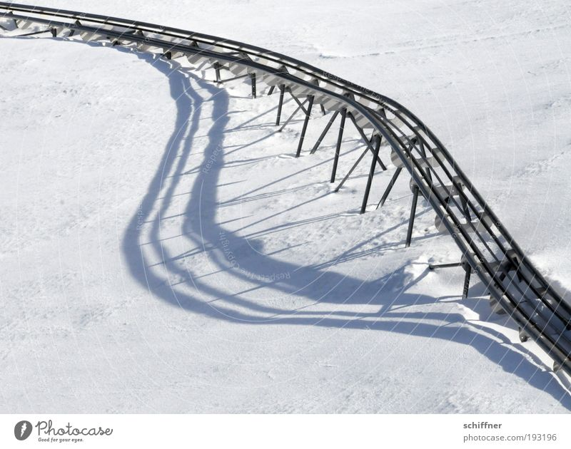 Winter Cold Snow Funny Happy Laughter Smiling Mouth Teeth Railroad tracks Pole Shadow play Shadow Rail transport Sledding Climate