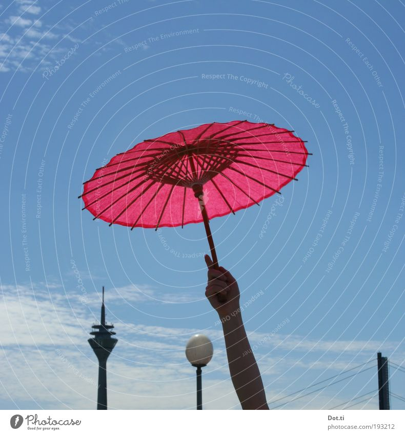 Human being Sky City Hand Joy Feasts & Celebrations Pink Arm Tall Tower Bridge Event Skyline Landmark Sunshade Japan