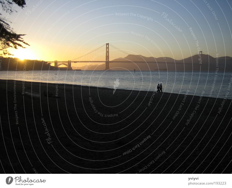 Emotions Friendship Bridge Warm-heartedness Tourist Attraction California Outskirts Sunset San Francisco