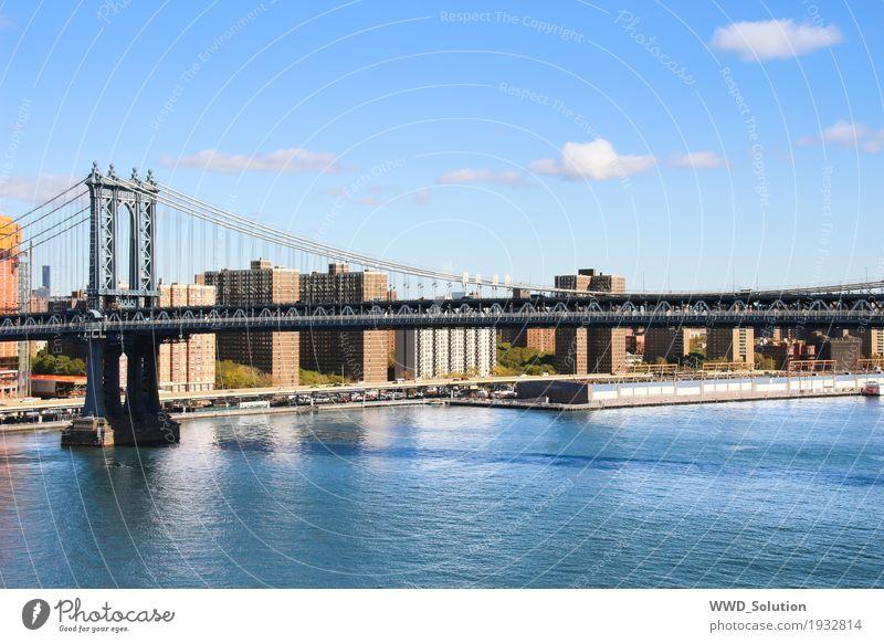 Town Culture Bridge Americas Tourist Attraction Skyline New York City Manhattan Bridge