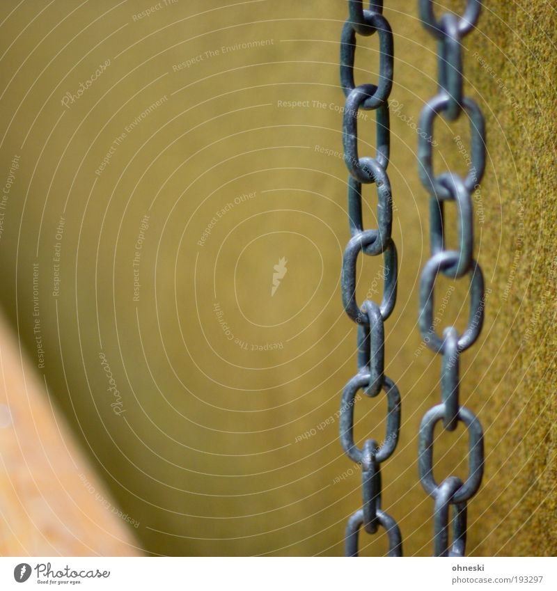 Give chain Hall Gymnasium Wall (barrier) Wall (building) Felt Chain Chain link Tall Colour photo Interior shot Deserted Copy Space left Copy Space top