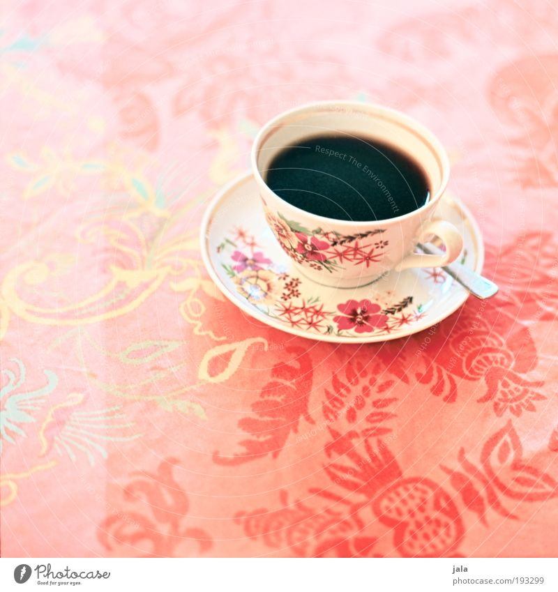 Beautiful Nutrition Food Beverage Coffee Retro Good Hot Crockery Cup Cutlery Spoon Medium format Pastel tone To have a coffee