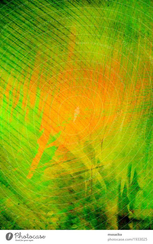 Textures of Tropical Plants Nature Colour Green Leaf Style Art Fashion Orange Design Decoration Modern Esthetic Crazy Paper Illustration