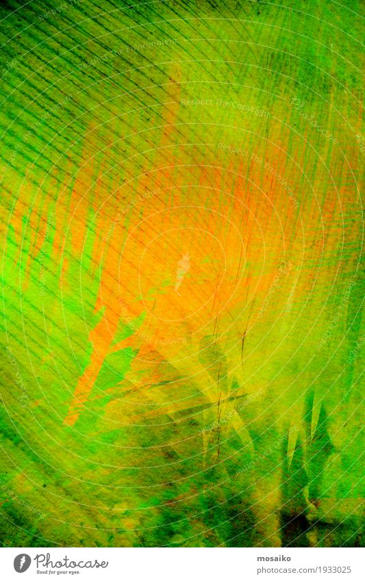 Textures of Tropical Plants Style Design Decoration Art Nature Leaf Paper Stripe Esthetic Modern Crazy Green Orange Exotic Colour Inspiration Surface Shading