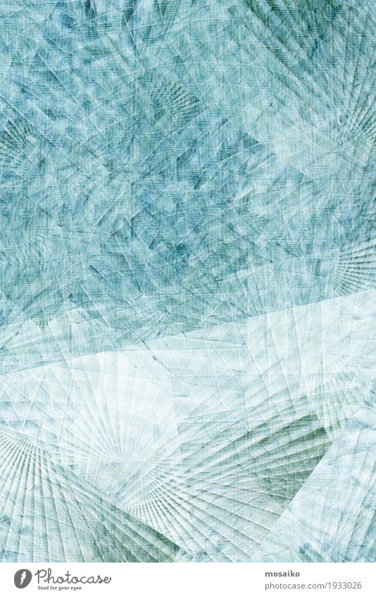 Textures of Tropical Plants Nature Blue Water White Leaf Environment Life Lifestyle Healthy Style Art Design Line Contentment Ice