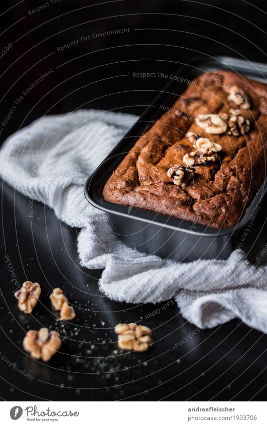 Banana bread without extra fat and sugar Food Fruit Bread Cake Nutrition Breakfast To have a coffee Organic produce Vegetarian diet Diet banana bread