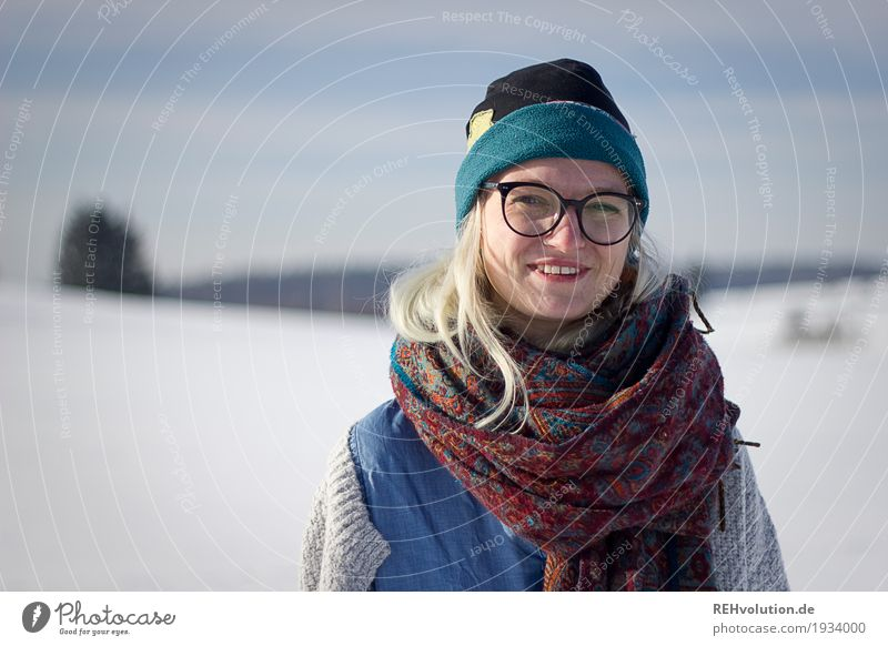 Jule in winter. Leisure and hobbies Trip Human being Feminine Young woman Youth (Young adults) Woman Adults Face 1 18 - 30 years Environment Nature Landscape