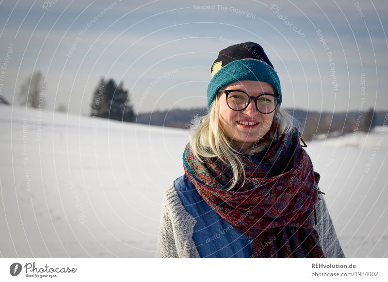 Jule   Winter Portrait Style Leisure and hobbies Human being Feminine Young woman Youth (Young adults) Woman Adults Face 1 18 - 30 years Environment Nature