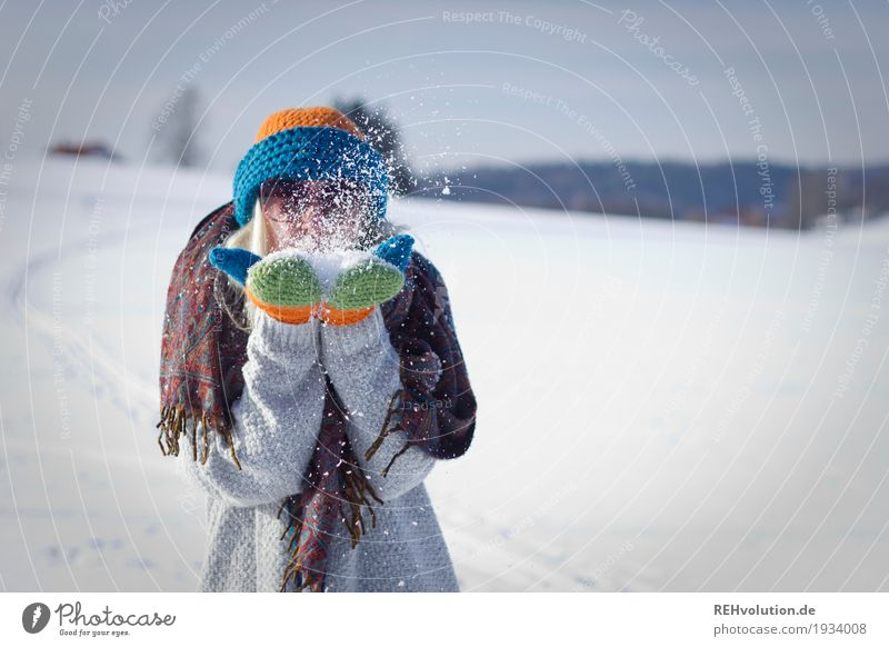 Jule in the snow! Lifestyle Leisure and hobbies Human being Feminine Young woman Youth (Young adults) Woman Adults 1 18 - 30 years Environment Nature Landscape