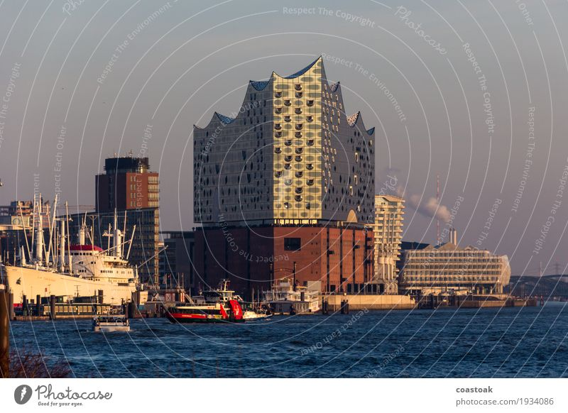 Elfi on the Elbe River Concert Hall Art Event Orchestra Water Hamburg Port City Architecture Tourist Attraction Landmark Navigation Harbour Discover Maritime