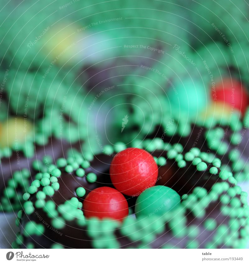 Green Red Brown Food Nutrition Sweet Easter Round Sign To enjoy Overweight Joie de vivre (Vitality) Candy Delicious Luxury Chocolate