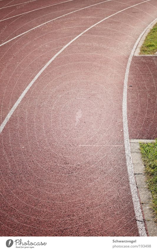 Curve section section with green Overweight Life Calm Sports Track and Field Jogging Sporting Complex Stadium Racecourse Plastic Movement Fight Walking Green
