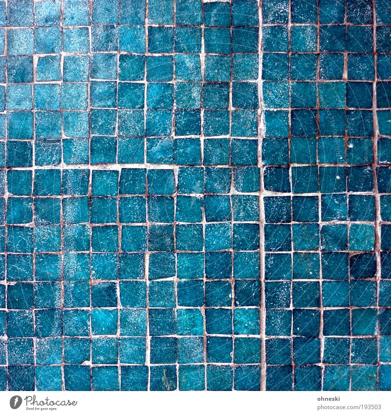 Blue House (Residential Structure) Wall (building) Wall (barrier) Building Architecture Facade Swimming pool Tile Craft (trade) Manmade structures Turquoise Light Production Pattern