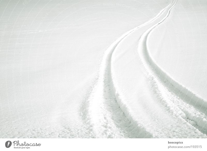 white Landscape Winter Field Motoring Lanes & trails White Environment Skid marks Snow Offroad Colour photo Deserted Copy Space left Morning Day