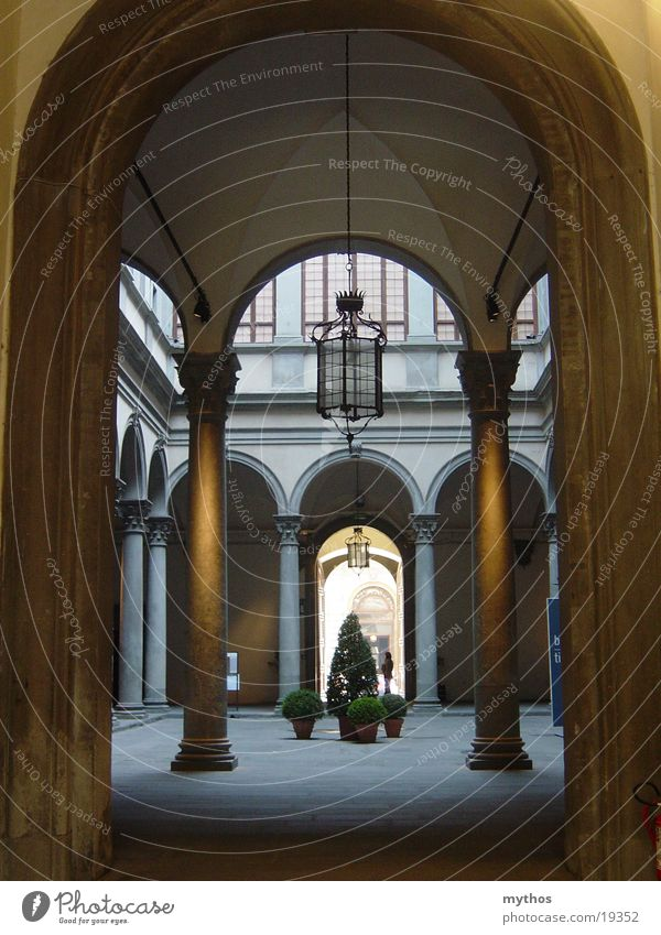 Palazzo in Florence House (Residential Structure) Italy Architecture palazzo Interior courtyard Arcade