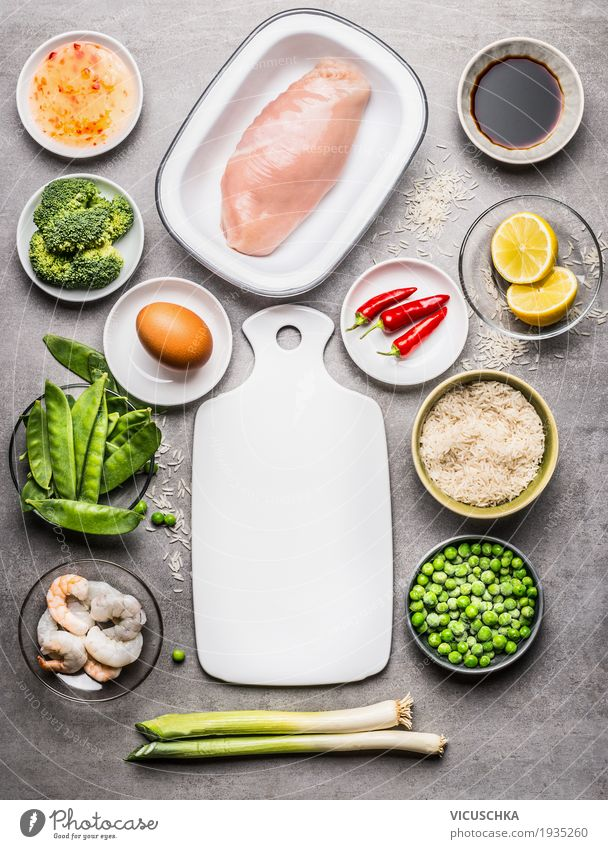 Green Healthy Eating Life Style Food Design Nutrition Table Herbs and spices Kitchen Vegetable Grain Organic produce Restaurant Crockery