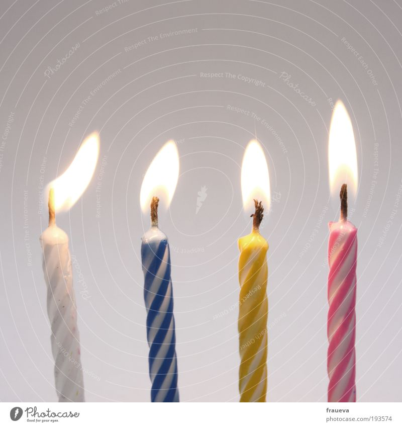 Blow! Decoration Candle Old Blue Multicoloured Yellow Pink White Life Birthday candles Candlelight Candlewick Candle flame Feasts & Celebrations Birthday cake