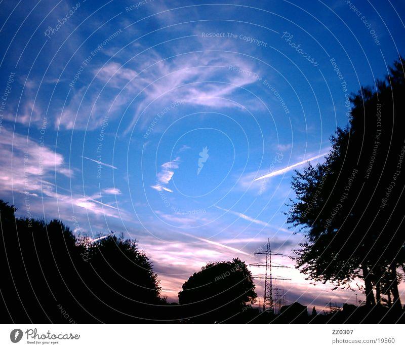 Sky2 Clouds Twilight Sunset Tree Evening Shadow Blue