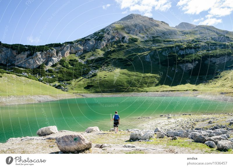 Italy - Dolomites Vacation & Travel Trip Adventure Far-off places Freedom Expedition Camping Summer Summer vacation Sun Mountain Hiking Human being Masculine