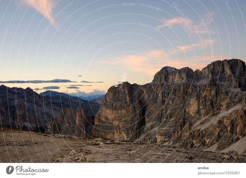Italy - Sunrise in the Dolomites, Lagazuoi 2835m Vacation & Travel Tourism Trip Adventure Far-off places Freedom Expedition Camping Mountain Hiking Nature