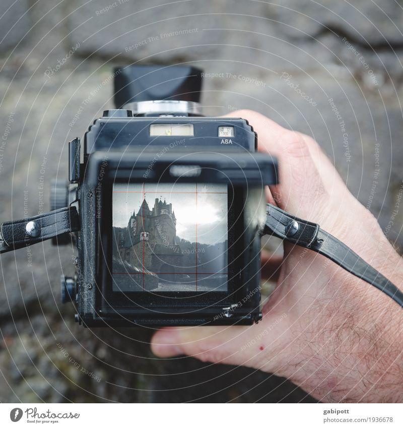 Photograph Eltz Castle Old Esthetic Retro Design Uniqueness Passion Nostalgia Perspective Analog Camera Roll film Viewfinder Take a photo Photo shoot