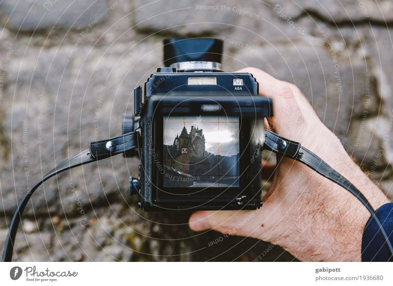 Photograph Eltz Castle Leisure and hobbies Vacation & Travel Tourism Trip Hiking House (Residential Structure) Ruin Joy Camera Analog Take a photo Cobblestones