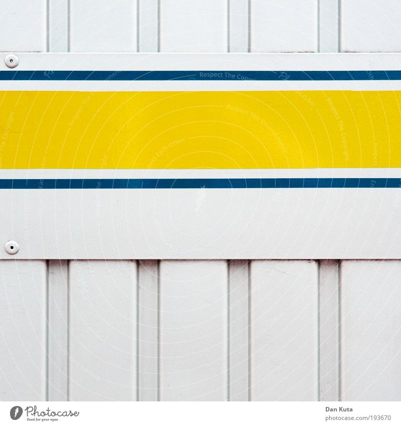 Blue White Colour Yellow Wall (building) Metal Line Esthetic Crazy Stripe Simple Clean Illustration Firm Vertical Chic
