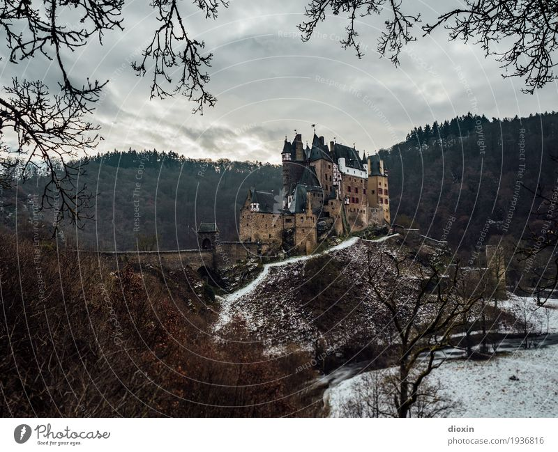 what eltz?! [5] Vacation & Travel Tourism Trip Sightseeing Winter Snow Forest Mountain Hunsrück Castle Manmade structures Building Old Authentic Exceptional