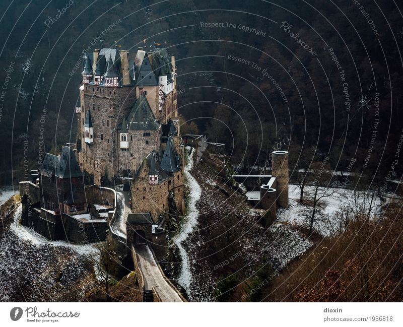 what eltz?! [4] Vacation & Travel Tourism Trip Sightseeing Winter Snow Mountain Hiking Dream house Forest Hunsrück Castle Manmade structures Old Authentic
