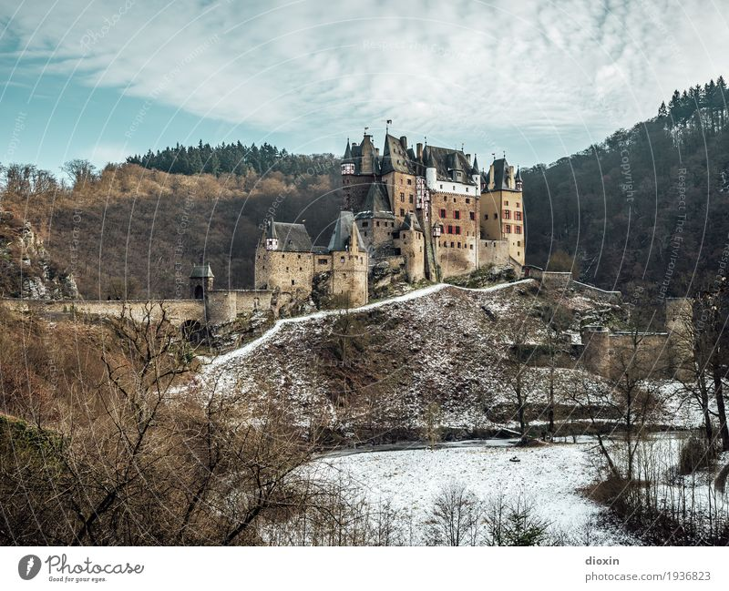 Whatltz [6] Vacation & Travel Tourism Trip Sightseeing Winter Snow Mountain Hiking Environment Nature Landscape Plant Sky Clouds Tree Forest Hunsrück Castle