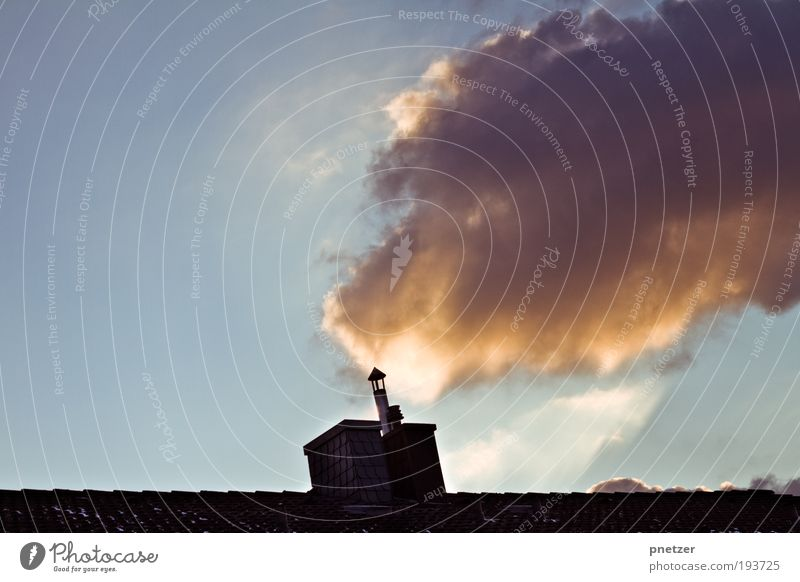 Sky Nature Sun Clouds House (Residential Structure) Environment Emotions Warmth Air Funny Weather Dirty Climate Exceptional Roof Threat